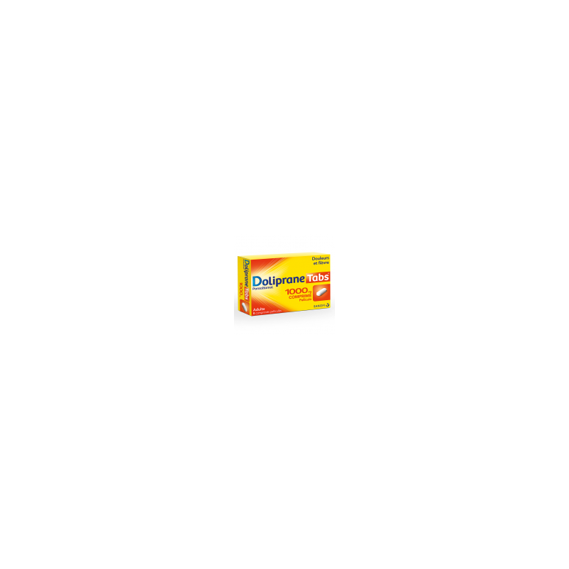 DOLIPRANETABS 1000MG 8 COMPRIMES SANOFI