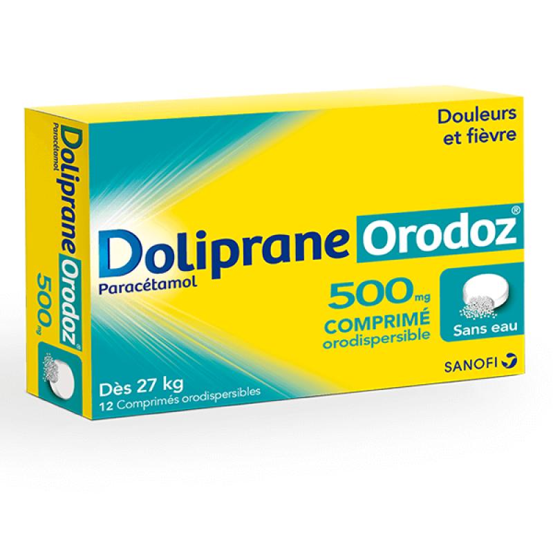 DOLIPRANEORODOZ 500MG 12 COMPRIMES SANOFI