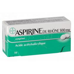 ASPIRINE DU RHONE 500MG - 50 COMPRIMES BAYER