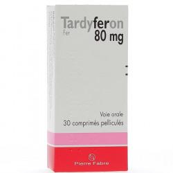 TARDYFERON 80MG comprimés pelliculés PIERRE FABRE