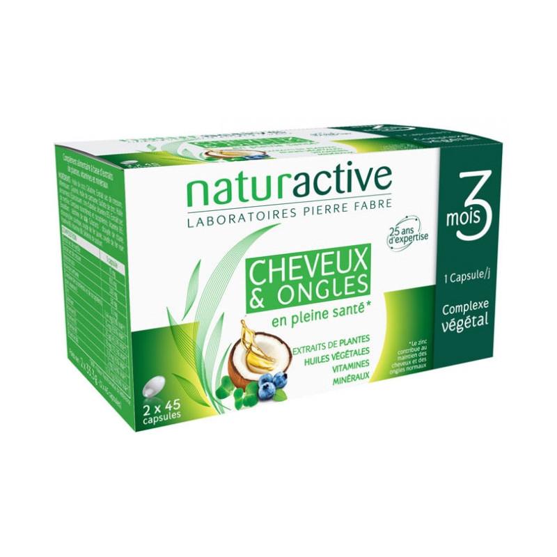 CHEVEUX & ONGLES LOT DE 2 X 45 CAPSULES NATURACTIVE
