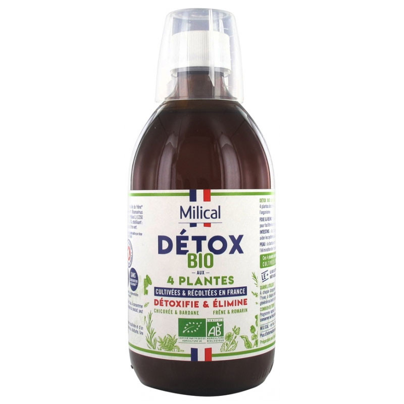 DETOX BIO AUX 4 PLANTES 500 ML MILICAL