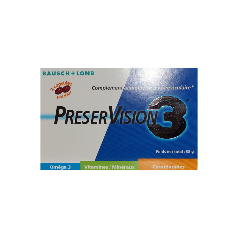 PRESERVISION 3 60 capsules BAUSCH & LOMB