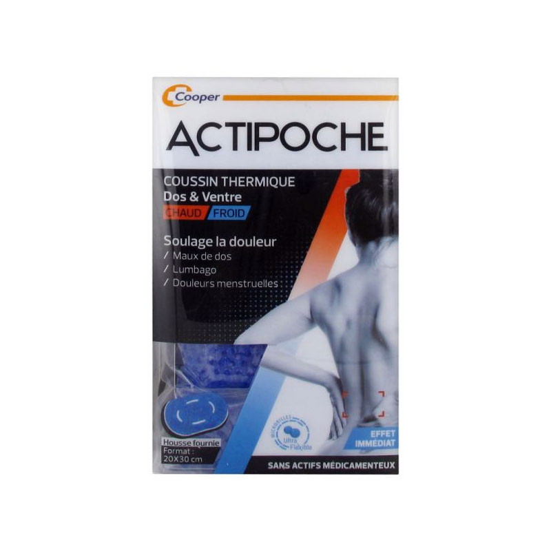 ACTIPOCHE COUSSIN THERMIQUE CHAUD FROID DOS VENTRE COOPER