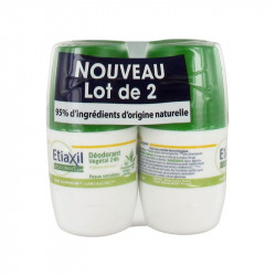 DEODORANT VEGETAL 24H Peau sensible LOT DE 2 X 50ML ROLL ON ETIAXIL