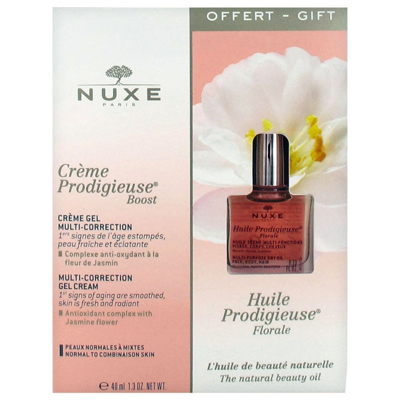 CREME PRODIGIEUSE BOOST GEL MULTI CORRECTION 40ML + HUILE PRODIGIEUSE FLORALE 10ML OFFERTE NUXE