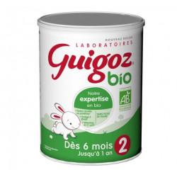 GUIGOZ 2 BIO LAIT 2ème AGE DE 6 MOIS A 1 AN format 800g