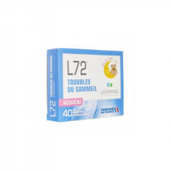 L72 TROUBLES DU SOMMEIL HOMEOPATHIE 40 COMPRIMES ORODISPERSIBLES LEHNING