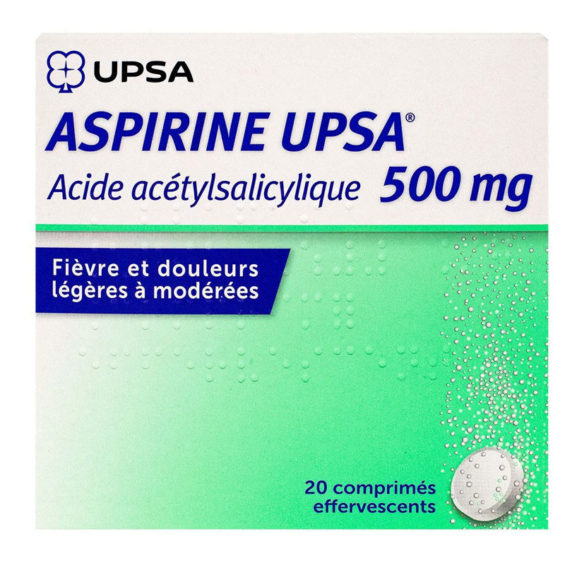 UPSA ASPIRINE 500 MG 20 COMPRIMES EFFERVESCENTS