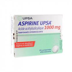 UPSA ASPIRINE 1000 MG 20 COMPRIMES EFFERVESCENTS