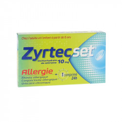 ZYRTECSET ALLERGIE 10MG 7 COMPRIMES