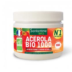 ACÉROLA BIO 1000 60 COMPRIMES A CROQUER SANTAROME