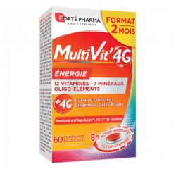 MULTIVIT' 4G ENERGIE 60 COMPRIMES FORTE PHARMA