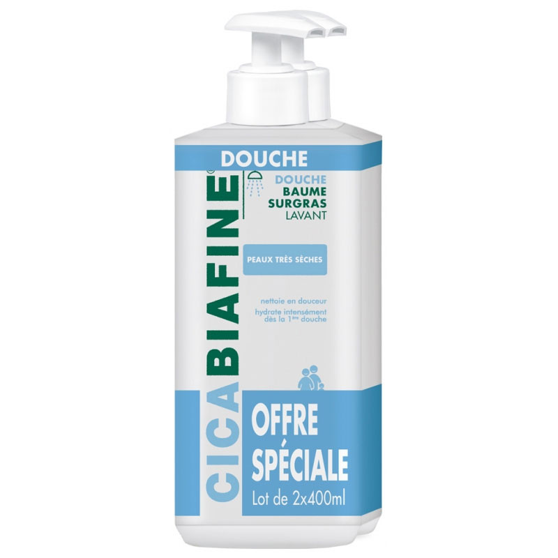 CICABIAFINE BAUME DOUCHE HYDRATANT SURGRAS LOT DE 2 X 400 ml BIAFINE