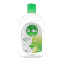 DETTOL GEL DÉSINFECTANT CLASSIC MAINS 500ML