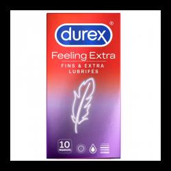 DUREX FEELING EXTRA 10 PRESERVATIFS