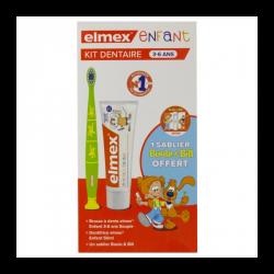 KIT DENTAIRE ENFANT 3- 6 ANS SABLIER BOULE & BILL ELMEX