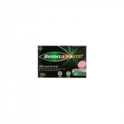 BEROCCA BOOST GUARANA VITAMINES B ET C 20 COMPRIMES BAYER