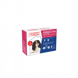 FIPROKIL DUO 67MG/20MG CHIENS 2 à 10 KG 4 PIPETTES CLEMENT THEKAN