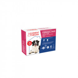 FIPROKIL DUO 134MG/40MG CHIENS 10 à 20 KG 4 PIPETTES CLEMENT THEKAN