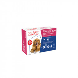FIPROKIL DUO 268MG/80MG CHIENS 20 à 40 KG 4 PIPETTES CLEMENT THEKAN