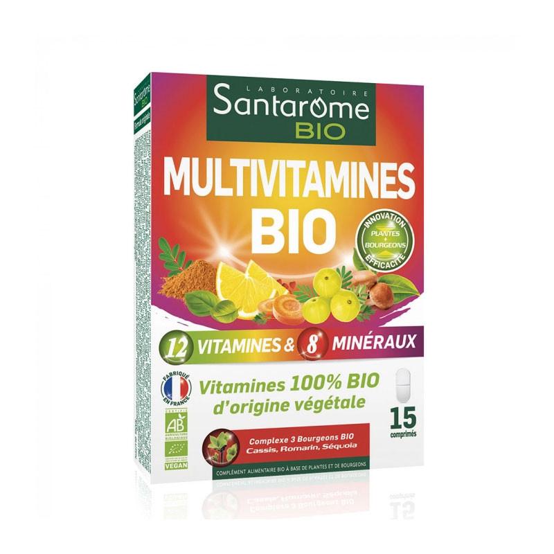 MULTIVITAMINES BIO 15 COMPRIMES SANTAROME