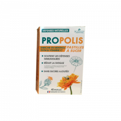 PROPOLIS DEFENSES NATURELLES 40 PASTILLES 3CHENES