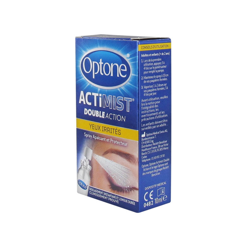 ACTIMIST DOUBLE ACTION SPRAY OCULAIRE YEUX IRRITÉS 10ML OPTONE