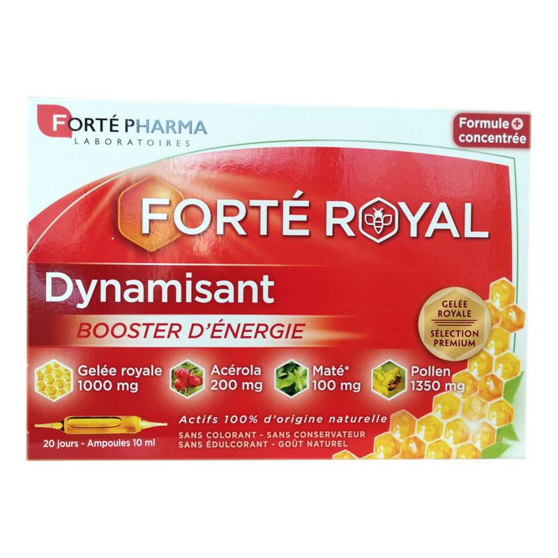 FORTE ROYAL DYNAMISANT BOOSTER D ENERGIE 20 AMPOULES FORTE PHARMA