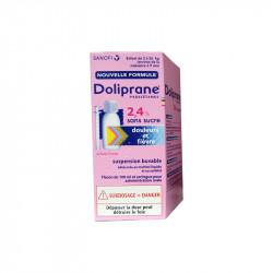DOLIPRANE SUSPENSION BUVABLE 2.4% SANS SUCRE SANOFI