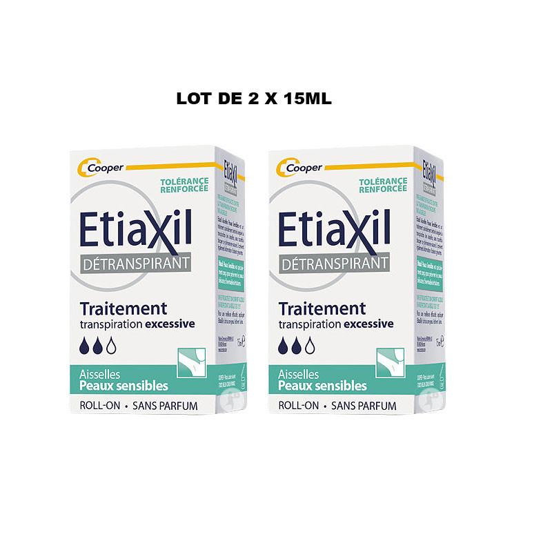 DETRANSPIRANT AISSELLES LOT DE 2 ROLL ON 15ML ETIAXIL