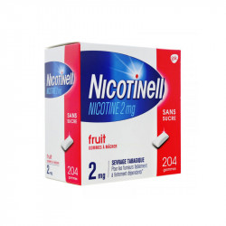 NICOTINELL FRUITS SANS SUCRE 2MG 204 GOMMES GSK