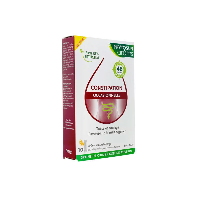 CONSTIPATION OCCASIONNELLE 10 SACHETS PHYTOSUN AROMS