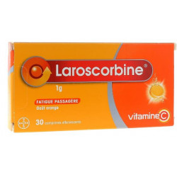 LAROSCORBINE 1 G EFFERVESCENT 2 x 15 comprimés SANS SUCRE BAYER