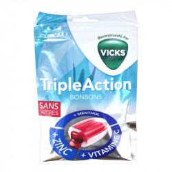 BONBONS TRIPLE ACTION SANS SUCRES 72g VICKS