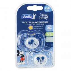 SUCETTE ANATOMIQUE NUIT +18 MOIS DISNEY BABY MICKEY SILICONE  DODIE