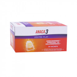 ANACA 3+ INFUSIONS VENTRE PLAT 24 SACHETS NUTRAVALIA
