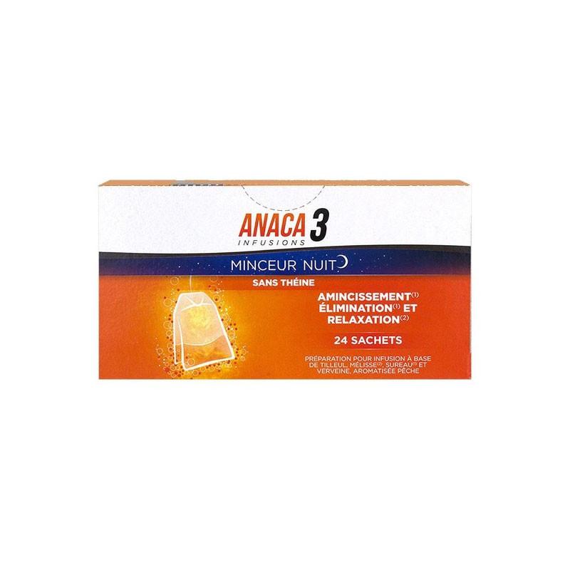 ANACA 3+ INFUSIONS MINCEUR NUIT 24 SACHETS NUTRAVALIA