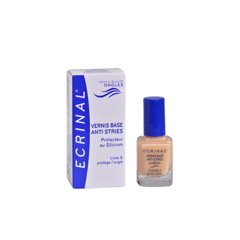 ECRINAL VERNIS BASE ANTI-STRIES ONGLES 10ml ASEPTA