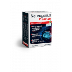 NEUROGENIUS® PREMIUM BOOSTER CEREBRAL 60 COMPRIMES 3C PHARMA