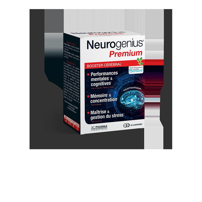 NEUROGENIUS® PREMIUM BOOSTER CEREBRAL 60 COMPRIMES 3C PHARMA