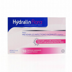 HYDRALIN FLORA 10 CAPSULES VAGINALES BAYER