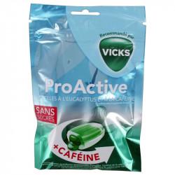 PROACTIVE PASTILLES EUCALYPTUS CAFEINE SANS SUCRES 72g VICKS