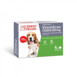 VERMISCAN CHIENS 500MG  4 COMPRIMES CLEMENT THEKAN