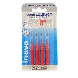 RECHARGE BROSSETTES MONO COMPACT X4 LARGE 1.5mm ISO4 INAVA