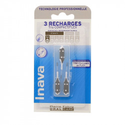 RECHARGE BROSSETTES INTERDENTAIRES TRIO COMPACT FLEX ETROITS ISO0 0.6mm  INAVA