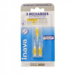 RECHARGE BROSSETTES INTERDENTAIRES TRIO COMPACT FLEX ETROITS ISO2 1mm  INAVA