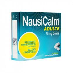 NAUSICALM 50mg ADULTE 14 GELULES MICROGRANULES