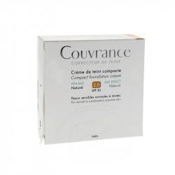 COUVRANCE CREME DE TEINT COMPACTE NATUREL N°2.0 SPF30 10G AVENE