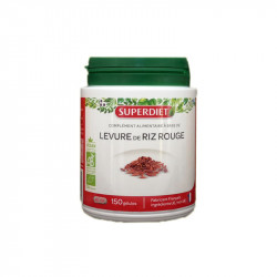 LEVURE DE RIZ ROUGE BIO 150 GELULES SUPERDIET